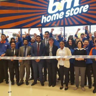 The new store team outside the brand new B&M Barking Home Store