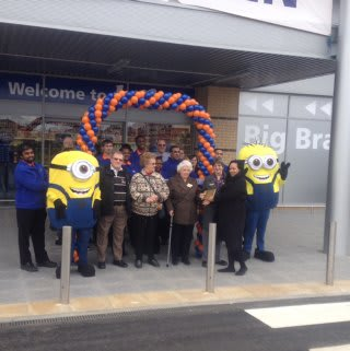 The store was opened by Ann Bennett from Mencap Charity.