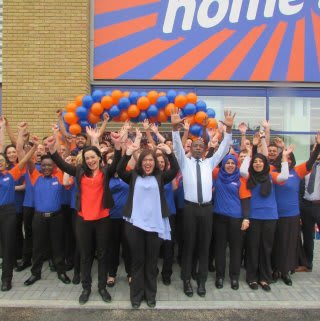 B&M Slough's store team were delighted to open their doors.