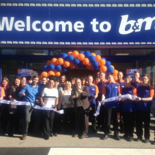 Mayor of Sunderland Councillor Alan Emmerson was on hand to cut the ribbon and officially open the new B&M Sunderland store on Ryhope Road
