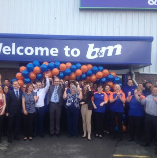 The store colleagues at B&M Pembroke Dock celebrating the opening of their new store.