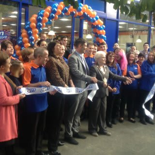 Lord Mayor Councillor Greta Goatley was invited by store manager Carl Russell to cut the ribbon at B&M's latest store opening in Gravesend.
