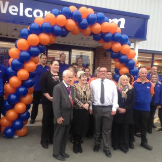 The excited new colleagues at B&M Coypool on opening day.