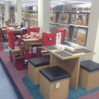 The furniture range on offer at B&M Ipswich - Eastgate Shopping Centre, with a Christmas twist.