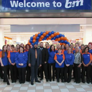 The colleagues of B&M Hartlepool - Middleton Grange ready to open the store for the very first time.