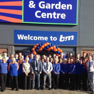 B&M Teesbay's store colleagues on opening day at the new store