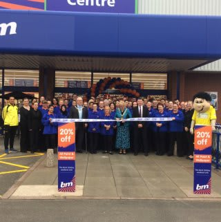 B&M's new store in Burton-upon-Trent was opened by Mayor Beryl Toon and her consort Mr James Toon.