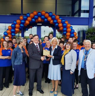 Representatives from Lighthouse Women's Aid, who B&M Anglia's colleagues chose as their VIP's for opening day.