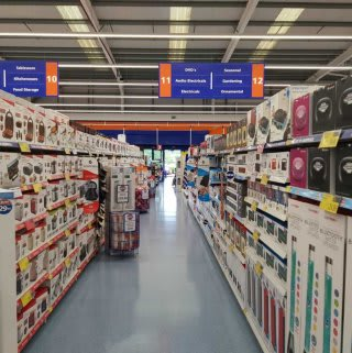 The great range of electricals on offer in B&M Anglia.