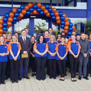 The new store team at B&M Anglia, ready for opening day.
