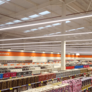 A first glimpse inside B&M Brighouse.