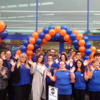 The B&M Brighouse store team celebrate the opening of their new store after weeks of hard work and preparation.