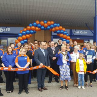 B&M's latest store in Port Talbot was opened by local Mayor Councillor Janet Dudley and her consort David Evans along with representatives from the Paul Ridd Foundation.