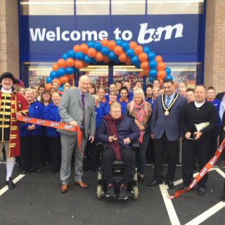 B&M's new store in Skegness was opened by Mayor Councillor Danny Brookes.