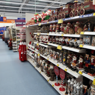 B&M's Christmas offering is on display in its newest store in Spalding, located on Westlode Street. The store stocks a great range of Christmas decorations, cards, wrapping paper and much more!