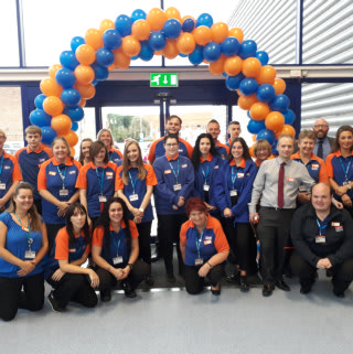 The store team at B&M's newest store in Spalding on Westlode Street celebrate on opening day.