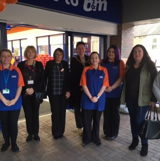 Representatives from charity The Birtley Hub were B&M's VIP guests for the day, taking part in the opening ceremony. They received £250 worth of B&M vouchers as a thank you for their hard work in the community.