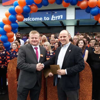 John was B&M's special guest for the opening of its new store in Tonbridge. John was representing local charity The Bridge Trust, and received £250 on the charity's behalf as a thank you for all its hard work in the community.