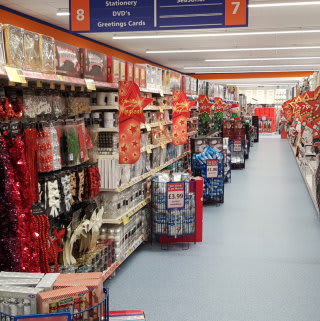 B&M's new Stone store stocks a huge range of Christmas decorations, lights and much more!
