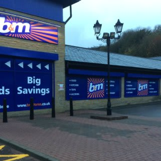B&M's brand new Bargains Store in Bacup, Lancashire, located on Irwell Street
