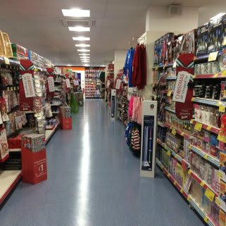 A first glimpse at the Christmas aisle in the new B&M Bacup store.