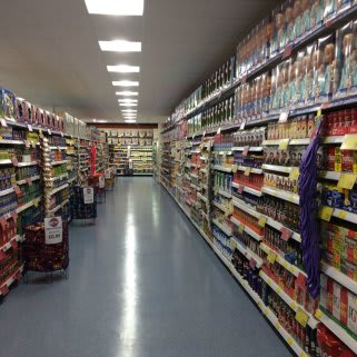 A huge selection of grocery items await customers in the new B&M Bacup store.