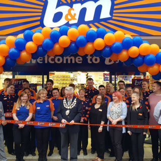 Local Cllr Michael Lyall was invited to cut the ribbon at B&M's latest store opening in Weston-super-Mare.