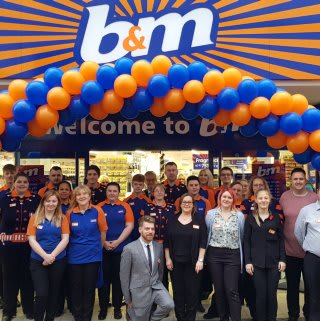 B&M's store staff at its new Weston-super-Mare store can't wait to open their doors to their first customers on opening day.