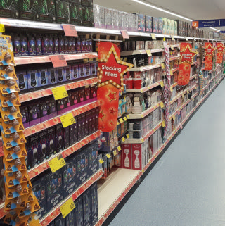 B&M's new store in Weston-super-Mare stocks a sparkling range of Christmas decorations, lights and trees.