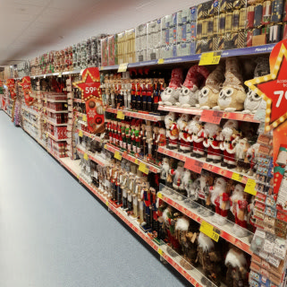 B&M's brand new store in Rochdale boasts a huge range of Christmas decorations, lights, trees, ornaments and much more.
