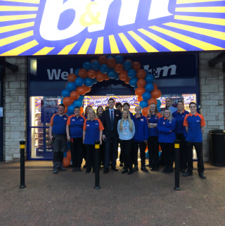 The store team at B&M's newest store in Kendal were delighted to open their doors for the first time.