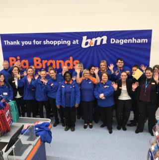 The store team at B&M Merrielands (Dagenham) can't wait to open their doors to their very first customers on opening day.