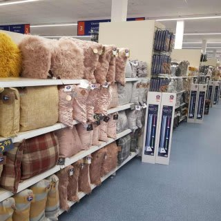 B&M's brand new store in Breightmet stocks a great range of soft furnishings like cushions and throws for your home.