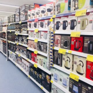 B&M's brand new store in Lurgan stocks a great range of electrical items for the home, including TVs, Bluetooth speakers, toasters, irons and much more.
