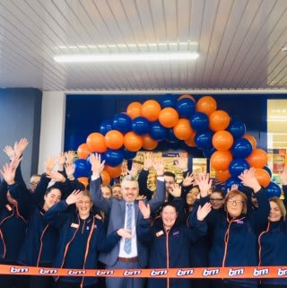 The store team at B&M's newest branch in Lurgan, Craigavon pose in their wonderful new store, located on Castle Lane.