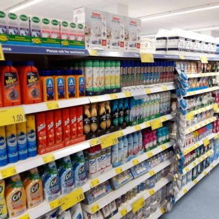 B&M's brand new store in Newmarket stocks a huge range of big brand cleaning essentials, from Daz and Ariel to Lenor and Febreze.