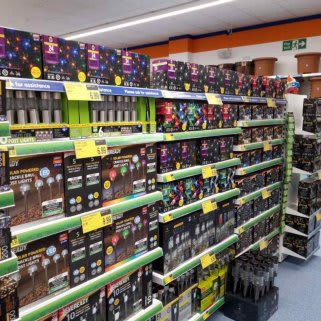 B&M's brand new store in Newmarket boasts a huge range of solar lighting for the garden, like post lights, string lights, light up ornaments and more.