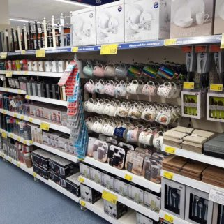 B&M's brand new store in Newmarket stocks a charming range of kitchenware, including mugs, dinnerware, oven gloves and tea towels.