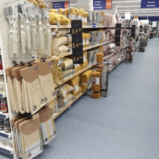 B&M's brand new store in Crawley boasts an impressive range of home textiles and soft furnishings, such as throws, cushions and curtains in a range of colours and styles.