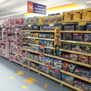 B&M's brand new store in Crawley stocks an exciting range of toys for girls and boys of all ages! Browse Lego, dolls, action figures and much more from the biggest toy brands!