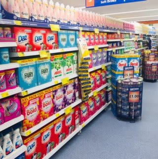 B&M's brand new store in Huddersfield stocks a great range of cleaning products, from the biggest brands like Daz, Lenor, Ariel and Domestos.