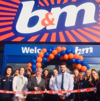 Store staff at B&M's new store in Huddersfield were delighted to welcome representatives from local charity Huddersfield Mission, who cut the ribbon on opening day. The charity received a donation of £250 worth of B&M vouchers for taking part in B&M's special day.