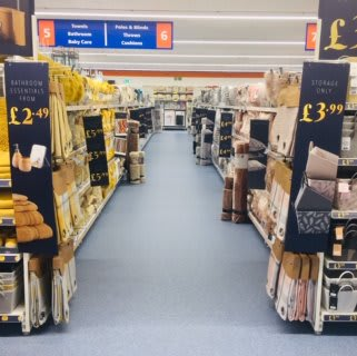 B&M's brand new store in Huddersfield stocks a great range of soft furnishings and home textiles, from cushions and throws to curtains, rugs and bedding.