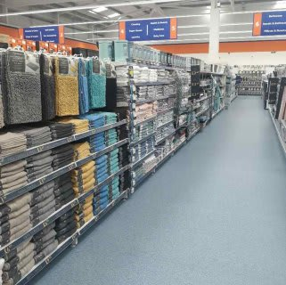 B&M's brand new store in Whitby stocks a charming range of bathroom textiles, including bathmats, bath sheets and bath towels.