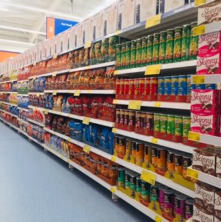 B&M's brand new store in Newcastle-upon-Tyne stocks a great range of grocery items.