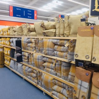 B&M's brand new store in Newcastle-upon-Tyne stocks a great range of soft furnishings.