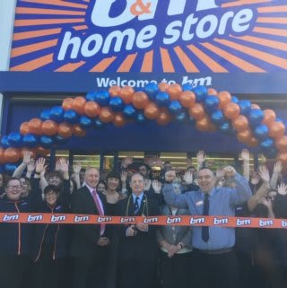 Store staff at B&M's new store in Newcastle-upon-Tyne were delighted to welcome representatives from The Millin Charity, the store's chosen charity for opening day. The charity received £250 worth of B&M vouchers for taking part in B&M's special day. Local Mayor Cllr David Cook was also in attendance.