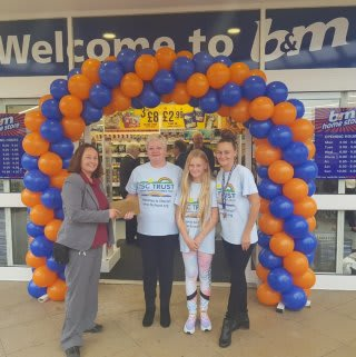 Store staff at B&M's new store in Heywood were delighted to welcome representatives from Trewan Sands Children's Trust, the store's chosen charity for opening day. The charity received £250 worth of B&M vouchers for taking part in B&M's special day.