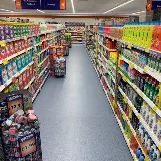 B&M's brand new store in Northampton stocks a great range of cleaning products from the biggest brands, like Daz, Ariel,