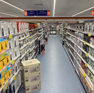 B&M's brand new store in Northampton stocks a great range of electrical items for the home, including TVs, Bluetooth speakers, toasters, irons and much more.